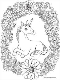 unicorn u0026 rainbow wreath coloring drawing coloring pages
