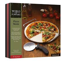 italian collection world of flavours italian pizza stone set