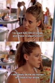 Sex And The City Meme - 7 iconic carrie bradshaw shoe moments on sex and the city