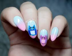 owl nail art designs choice image nail art designs
