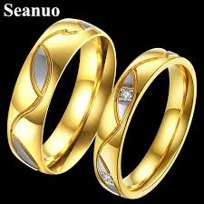 aliexpress buy gents rings new design yellow gold aliexpress buy seanuo unique design yellow gold color