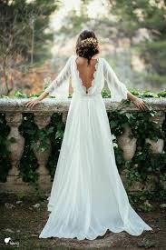 wedding dress goals boho sleeves wedding dress with open back deer pearl flowers