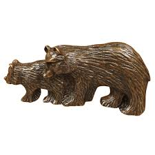 Black Bear Decorations Home Rustic Hardware Bears Metal Cabinet Pull Black Forest Decor