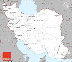 map iran gray simple map of iran