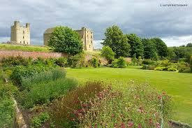 beautiful july borders picture of helmsley walled garden