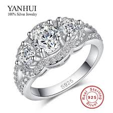 cheap rings silver images Cheap sterling silver wedding rings promotion purity silver jpg