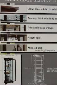 pulaski curio cabinet costco costco pulaski cambridge sliding door curio cabinet frugal hotspot
