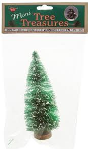 6 mini sisal light green tree with snow