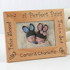 baby engraved gifts personalized wood picture frame a pair 4x6