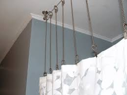Portable Shower Curtain Rod Rustic Alternative For Shower Rings Might Work For Window