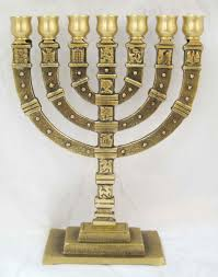 7 candle menorah brass 7 branch menorah