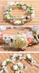 bride headdress bride wrist flowers for wedding beautiful beach