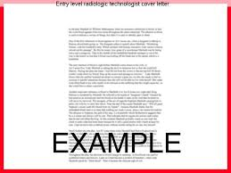 entry level radiologic technologist cover letter term paper