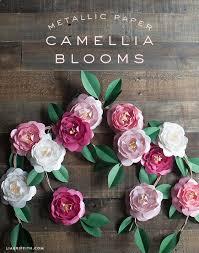 camellia flowers diy metallic paper camellias