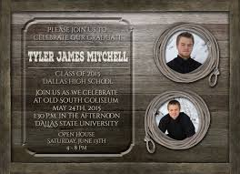 western graduation invitations country rustic graduation