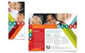 school brochure design templates school brochure design templates pediatrician child care brochure