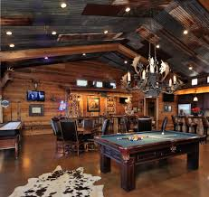 rustic man cave ideas family room rustic with wood beam cement