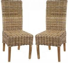 chaise tress e lot de 2 chaises en kubu tressé 5936