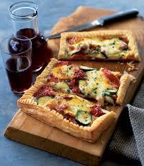 courgette cuisine courgette and mozzarella tart delicious magazine