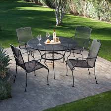 Patio Table Glass Top Space Simple Black Round Patio Dining Table Glass Top Added
