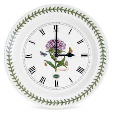 portmeirion botanic garden wall clock sweet william portmeirion uk