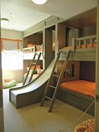 Bunk Bed With Table Underneath A Slide In A Kid U0027s Bedroom Genious Add Desk Area Underneath