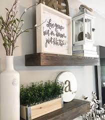 Floating shelves wood shelves farmhouse decor farmhouse Style