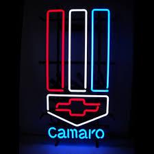 camaro logos chevy camaro logo neon sign chevy logos advertising signage
