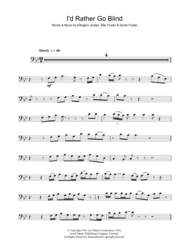 I D Rather Go Blind Cover Eddi Reader Sheet Music To Download And Print World Center Of