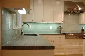 Pictures Of Backsplashes In Kitchens Mesmerizing Kitchen Lovely Recycled Glass Backsplash With