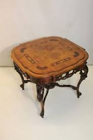 gorgeous french inlaid marquetry walnut hand carved coffee table