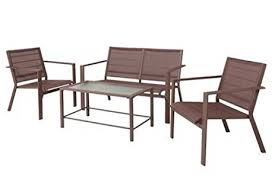 Sling Patio Chairs Clifton 4 Brown Sling Patio Furniture