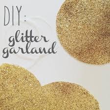 diy glitter garland