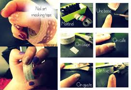 scotch magic nails art deco tutorial nail art tape designs 2