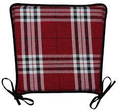 kitchen seat pad 100 polyester tartan check garden dining square kitchen seat pad 100 polyester tartan check garden
