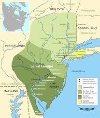 Map Of Northern America by Map Of Lenni Lenape Territories The North Newark