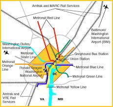 washington dc metrobus map metro connections