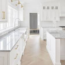 kitchen backsplash ideas with white cabinets houzz 75 beautiful kitchen with marble countertops and subway tile