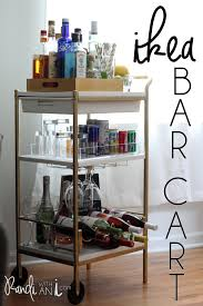 diy gold ikea bar cart hack gold spray paint and a few styling