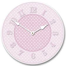 baby pink wall clock cute wall clocks the big clock store