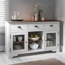 White Sideboard With Glass Doors by Canterbury Sideboard In White And Dark Pine Noa U0026 Nani