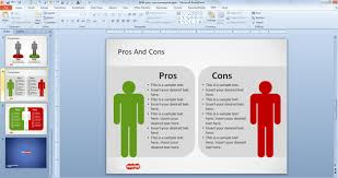 free pros u0026 cons powerpoint template free powerpoint templates