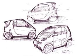 cartoon car drawing smart car lineweights