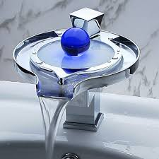 bathroom faucet with led light beautiful waterfall faucet with led light bonjourlife