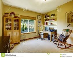 Living Room Rocking Chairs Cozy Office Room With Rocking Chair Stock Photo Image 44363578
