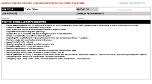 Electrician Job Resume by Traffic Officer Job Title Docs