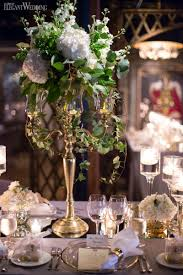 french romance gold and white mirror table top table setting