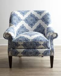 Blue And White Accent Chair Inspirational Blue And White Chair For Your Small Home Decoration