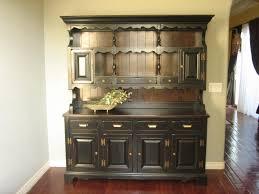 Buffet Kitchen Furniture with Kitchen Wine Buffet Hutch Black Sideboard Cabinet White Oak New