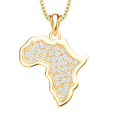 golden necklace women images Buy fashion women africa map gold plated necklace golden best jpg